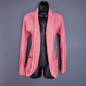 BLUENOTES Cardigan Open Long Sleeve Pockets Red M
